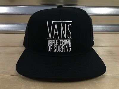 Vans 2019 Triple Crown Of Surfing Mens Snapback Hat ( VN0A45BVBLK ) NEW!! • 0f22672333ac