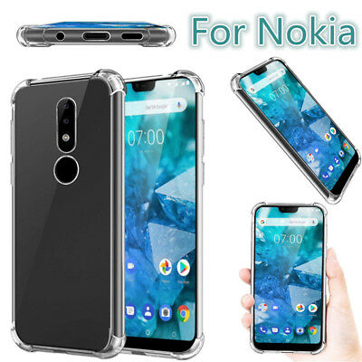 AU4.09 • Buy For Nokia1 2 3 5 6 7 8 9 7.1 Plus Shockproof Clear Slim Silicone Soft Case Cover