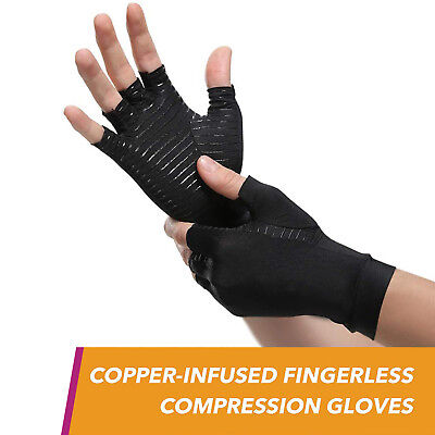 Compression Arthritis Gloves Joint Support Pain Relief Tunnel Computer Typing • 11.99$
