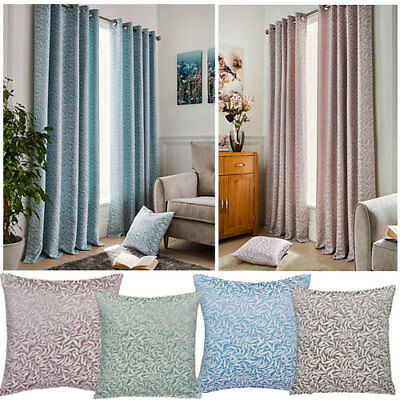 Willow  Leaf Design Lined Ring Top Curtains (Pair Of) - NOW £10, £15 & £20 • 20£