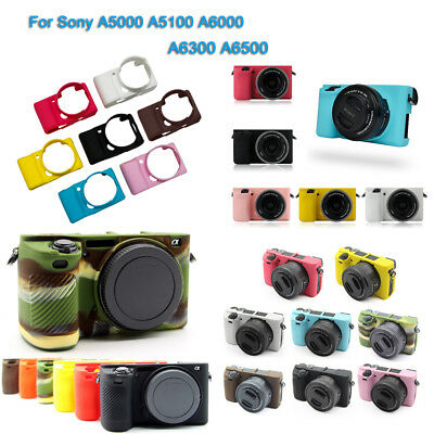 $ CDN10.39 • Buy Silicone Camera Protector Case Body Cover Bag For Sony A5100 A6300 A6300 A6500