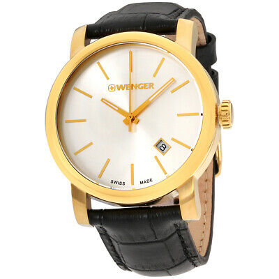 Wenger Urban Classic Silver Dial Leather Strap Men s Watch 011041119 •  35.99  3bcd76f7fb6