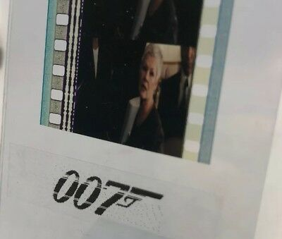 Authentic 5-Cell Film Strip JAMES BOND 007 W/ M (Judy Dench) WORLD IS NOT ENOUGH • 4.13£