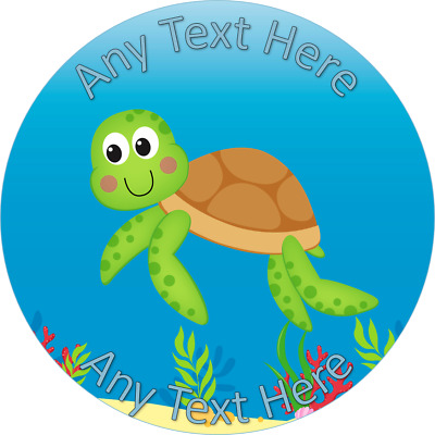 £4.99 • Buy Turtle Cake Topper Edible Icing Wafer Personalised 7.5 6.5 5.5 Inch