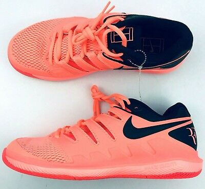 e9a76a5294c1 Nike Federer Air Zoom Vapor X HC Men s Tennis Shoes Lava Glow AA8030-660  Size