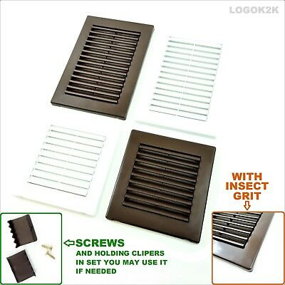 Louvre Air Vent Grille Cover With Aesthetic Frame Duct Ventilation White Brown • 2.99£