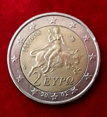 $ CDN657.78 • Buy 2 Euro Coin With *S* On Star Greece 2002 Error Stamp - Printing Coin Zeus C/ble