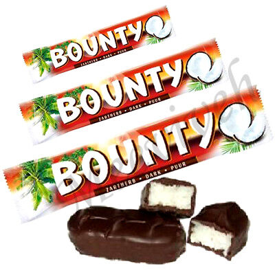 BOUNTY DARK CHOCOLATE TWIN BARS ORIGINAL 57g BARS - 2,4,8,24 (FULL BOX) BAR  • 21.99£