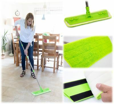 Laminate Mop Flooring Microfibre Duster Cleaner For Wood Static Dust Broom Brush • 14.79£