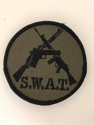 £3.95 • Buy U.S. Police SWAT Anti Terrorist Cloth Patch Badge (Special Weapons And Tactics)