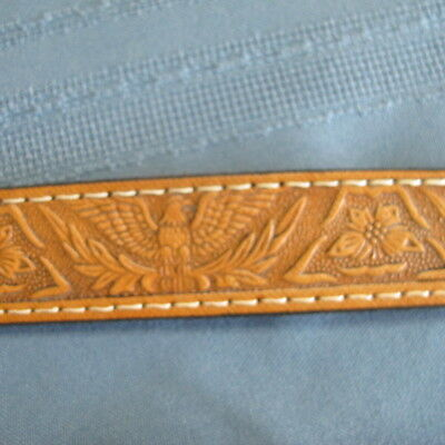 $14.99 • Buy Cripple Creek Child's Brown Tooled Leather Belt New Size 22 Eagles