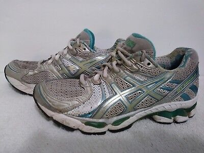 $6.30 • Buy Asics T153N Gel Kayano 17 Gray/Turquoise Women's  Running Shoes Size 6