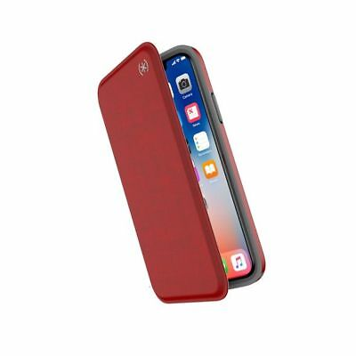 AU51.95 • Buy Speck Presidio  FOLIO  Wallet Stand  Case For  IPHONE  X XS  5.8'' – Red