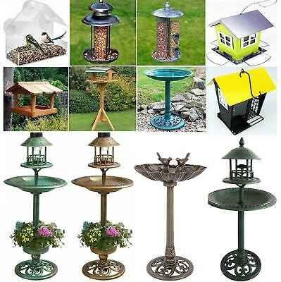 £9.95 • Buy Wild Bird Bath Outdoor Feeder Hotel Window Solar Metal Feeding Station Table