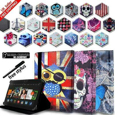 For Amazon Kindle Fire 7 HD8 HD10 Alexa Tablet Folio Stand Leather Cover Case • 4.99£