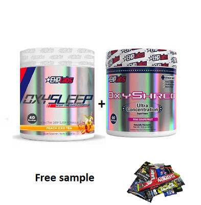 AU124.90 • Buy Ehplabs Oxyshred And Oxysleep Thermogenic Weight Loss Fat Burning Combination