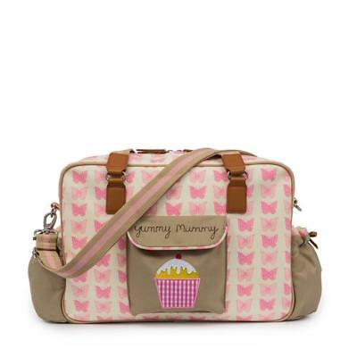 Pink Lining Yummy Mummy Luxury Baby Changing Nappy Bag - Pink Butterflies • 59£
