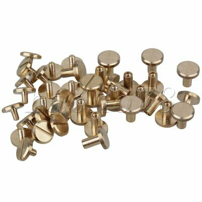 20pcs Solid Brass Nail Rivets Chicago Screws For Leather Craft Belt Wallet • 8.51£