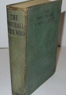 Frank Johnston The Football Who's Who 1st Edition 1935 • 25£