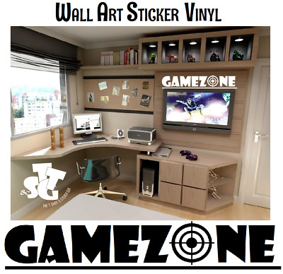 Game Zone Gaming Bedroom Wall Art  Vinyl Stickers  Xbox Ps4 ** • 3.98£