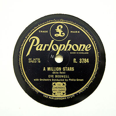 £6.95 • Buy EVE BOSWELL  A Million Stars / Don't Ever Leave Me  (EE+) PARLOPHONE [78 RPM]