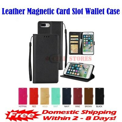 $ CDN9.99 • Buy Leather Magnetic Card Slot Wallet Flip Case For IPhone 7 & 8 Plus (5.5 )