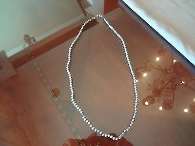 $ CDN112.61 • Buy Vintage Sterling Silver Necklace With Lots Of Beads-long Necklace