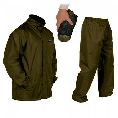 Vass-Tex VW130 Lightweight Waterproof Jacket & Trousers - Kaki • 43.50£
