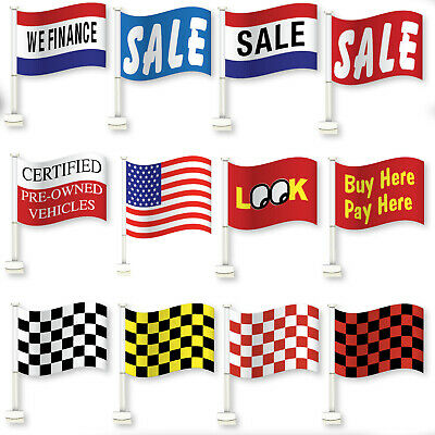 Car Dealer Window Flags You Pick From 12 Designs Flag Is 12  X 18  Clip On • 2.21£