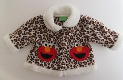 $10 • Buy Sesame Street Girls 0/3 MOS Cheetah Print Jacket With Elmo Accents PreOwned