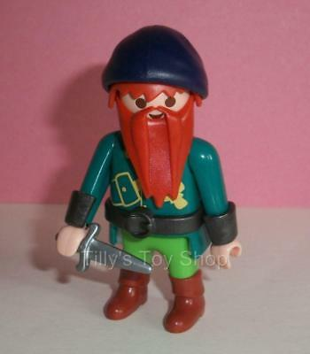 Playmobil  Castle/Fairytale - Wizard/Dwarf Knight Figure, Beard,Hat & Dagger-NEW • 4£