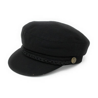 £21.95 • Buy Melton Wool Barge Cap Black. Fully Lined. Lovely Quality.