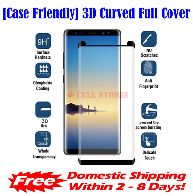 $ CDN6.48 • Buy Case Friendly Full Cover Tempered Glass Screen Protector For Samsung S8 Plus