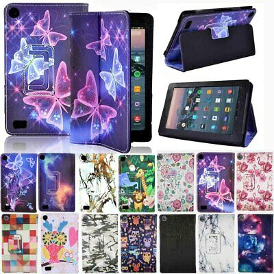 For Amazon Kindle Fire 7 / HD 8 / HD10 With Alexa Smart Leather Stand Cover Case • 6.49£