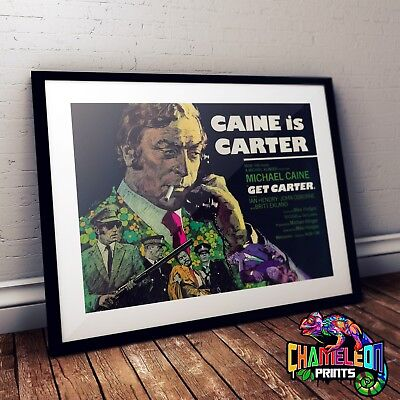 Get Carter Movie Poster In A3 A4 Michael Caine • 14.99£