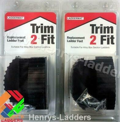 Trim 2 Fit Replacement Ladder Feet - Genuine LADDERMAT - 2 Pair Special Offer • 15.90£