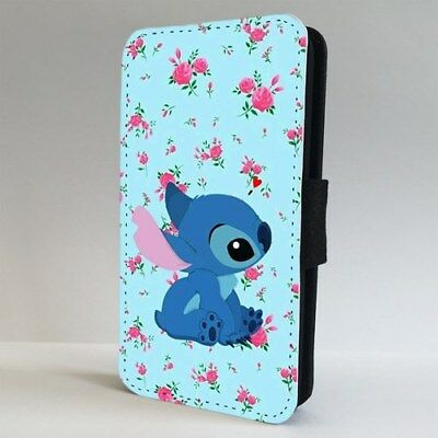 Lilo And Stitch Floral FLIP PHONE CASE COVER For IPHONE SAMSUNG • 9.95£