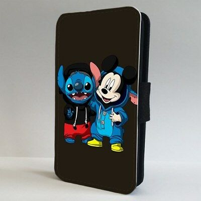 Lilo And Stitch Mickey Mouse Disney FLIP PHONE CASE COVER For IPHONE SAMSUNG • 9.95£
