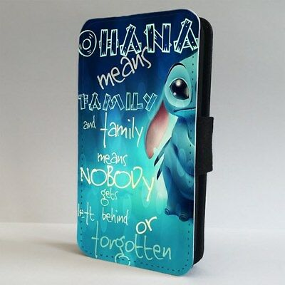 Lilo And Stitch Disney Quote FLIP PHONE CASE COVER For IPHONE SAMSUNG • 9.95£