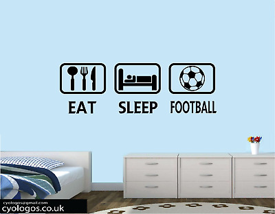 £5.99 • Buy Eat Sleep Game Football Rugby Wall Art Sticker Quote Decal Boys Bedroom Decor