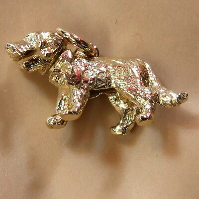 £112.95 • Buy 9ct Gold New  Movable Dog With Bone Charm