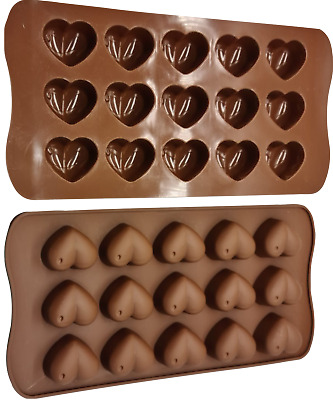 Love Heart Christmas Shaped Tray Chocolate Ice Jelly Silicone Mould    Baking • 2.99£