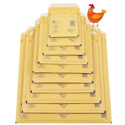 £13.71 • Buy Arofol Genuine Gold Bubble Padded Envelopes Mailers Bags All Sizes / Qty's