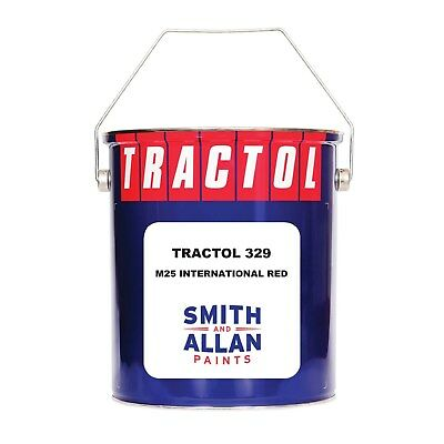 International Red Tractor Paint Machinery Plant Enamel Tractol 5 Litre 5L • 56.50£