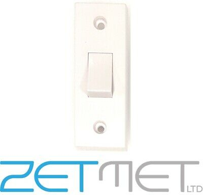 £1.95 • Buy 1 Gang 2 Way White Plastic Architrave Light Switch 10 Amp 240V Screw Covers
