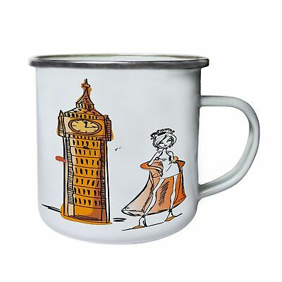 London Big Ben Fashion Woman Retro,Tin, Enamel 10oz Mug Z502e • 18.96£