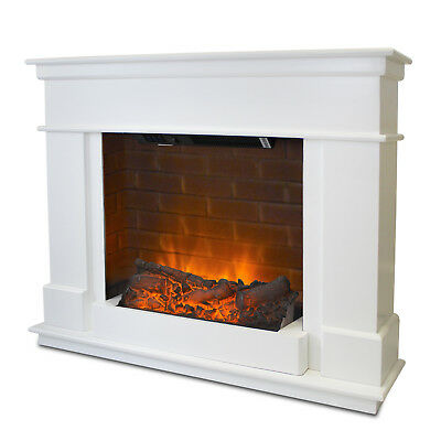 Fireplace Electric Fire Free Standing Mantelpiece Heater Brick Surround Suite • 269.99£