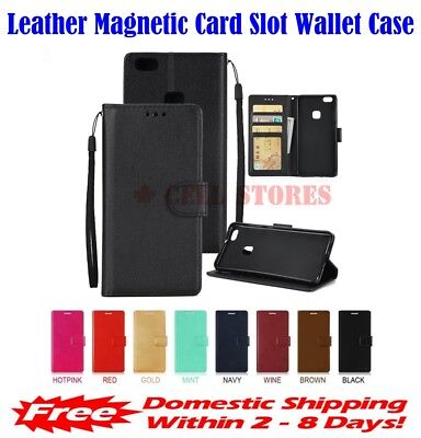 $ CDN12.99 • Buy  Leather Magnetic Card Slot Wallet Flip Cover Stand Case For LG Q6