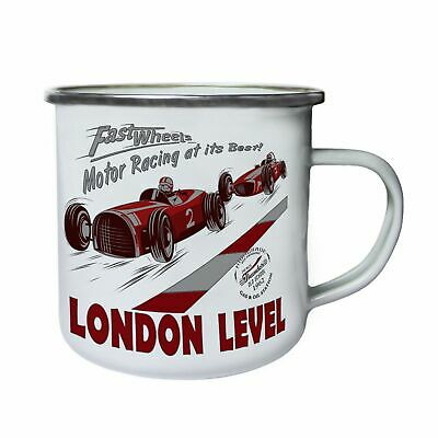 London Level Motor Racing Best Retro Cars Retro,Tin, Enamel 10oz Mug Aa466e • 18.96£