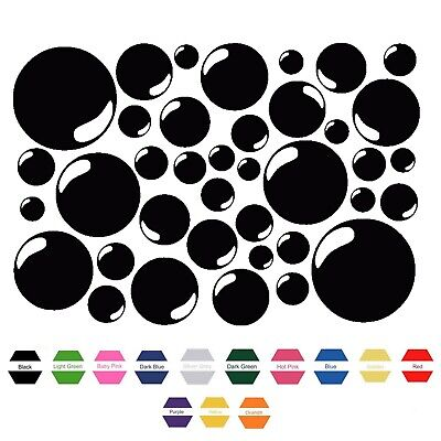38 BUBBLES Vinyl Sticker Decals Sheet Bathroom Tile Wall Art Home Car Sticker • 3.49£